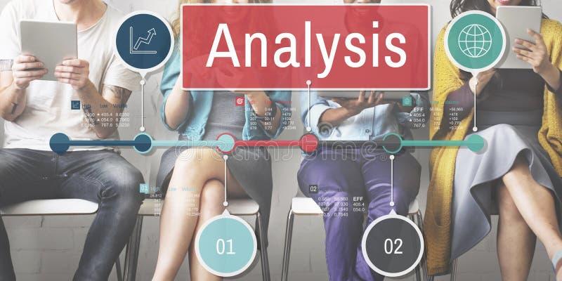 Analyse-Informations-Einblick schließen Daten-Konzept an lizenzfreies stockfoto