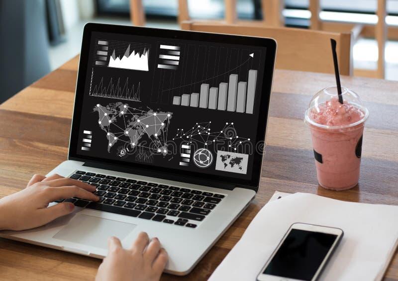 Analyse les affaires Team Investment Entrepreneur Trad du marché image libre de droits