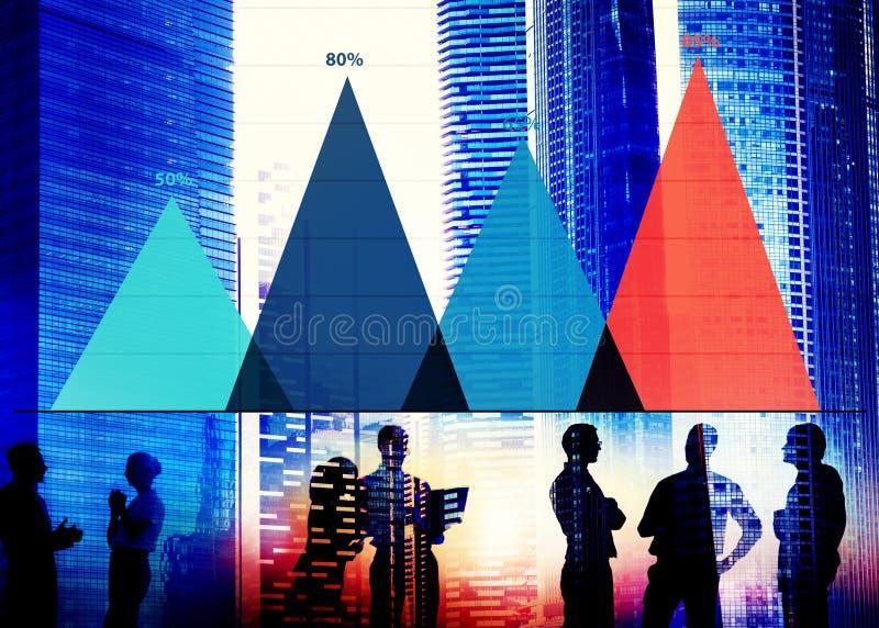 Analyse-Strategie-Marketing-Diagramm-Konzept der kommerziellen Daten stock abbildung