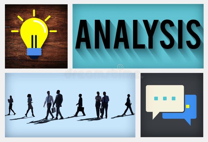 Analyse-Strategie-Studien-Informations-Planungs-Konzept vektor abbildung