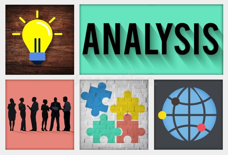 Analyse-Strategie-Studien-Informations-Planungs-Konzept lizenzfreie abbildung
