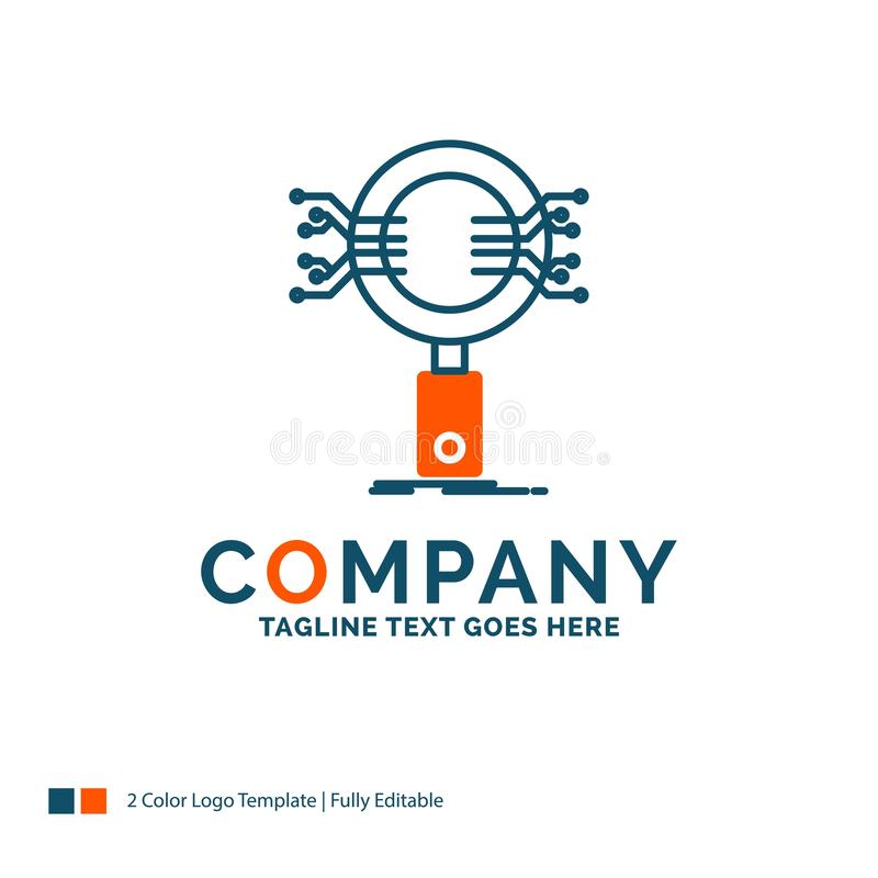 Analyse, Suche, Informationen, Forschung, Sicherheit Logo Design B lizenzfreie abbildung