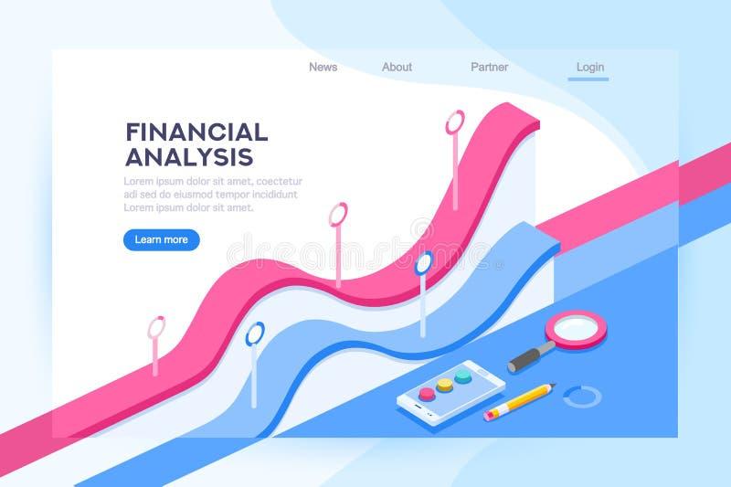 Analyse van Financieel Beleidsconcept royalty-vrije illustratie