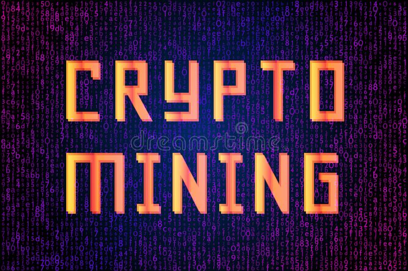 Analyse van informatie Crypto de visualisatie van mijnbouwgegevens stock illustratie
