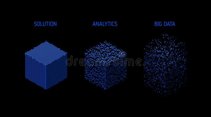 Analyse van informatie Visualisatie voor het exploiteren van gegevens stock illustratie