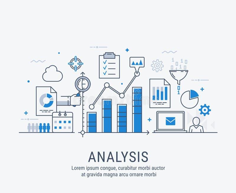 Analyse vectorillustratie stock illustratie