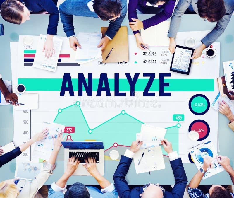 Analyseer van de Bedrijfs analysestrategie Marketing Concept royalty-vrije stock foto