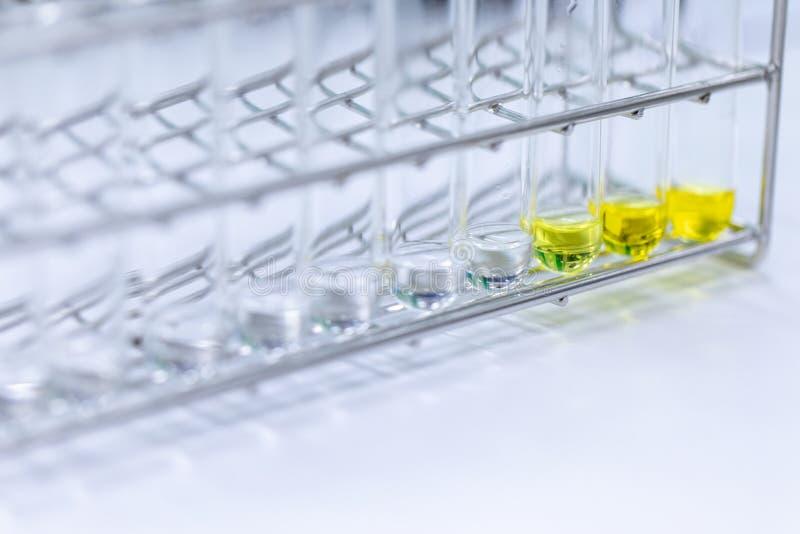 Analyseprotein für Studie im Labor stockfotos