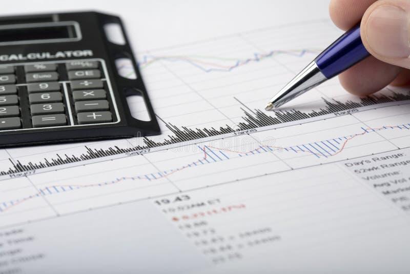 analysera finansiella data royaltyfri bild