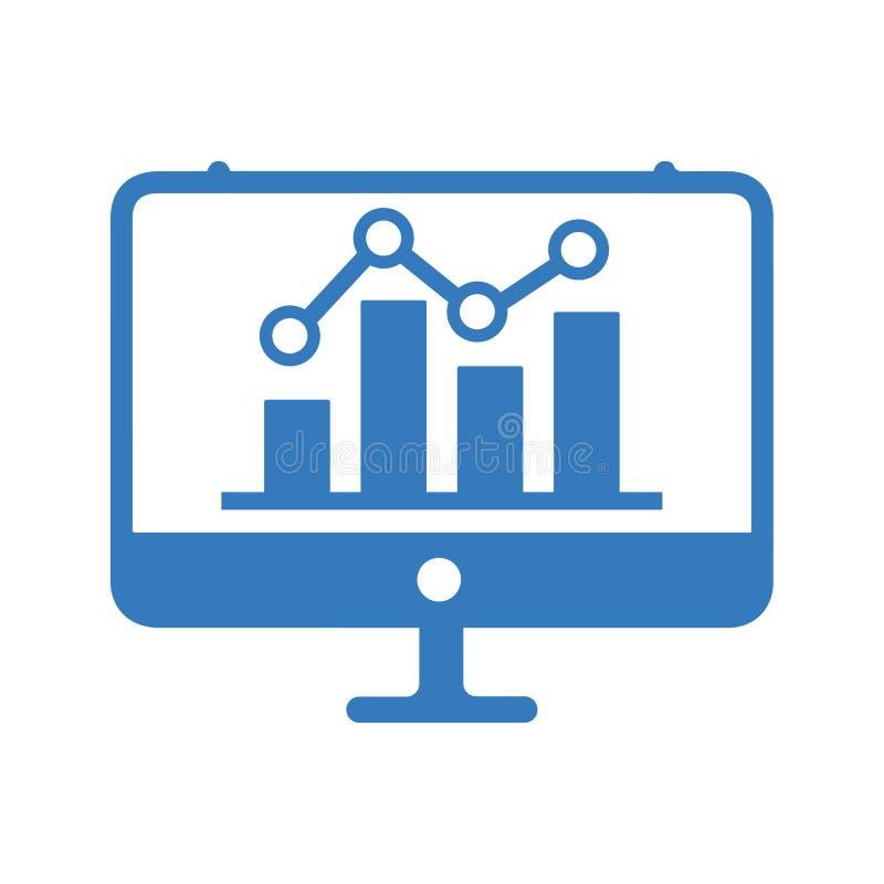 Analyserapport/Grafiek/Onderzoekpictogram stock illustratie