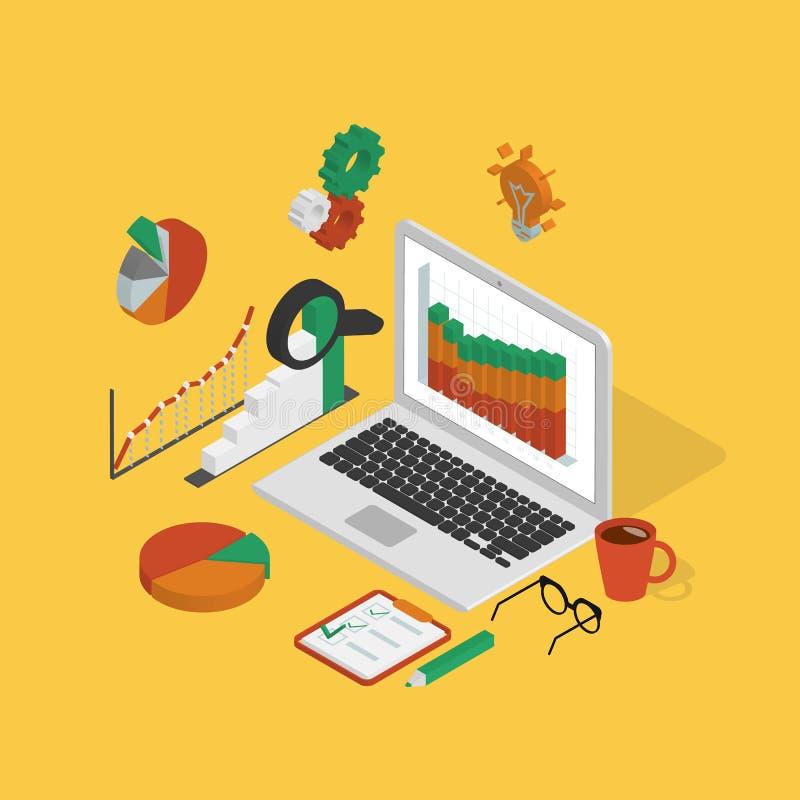 analyserar stock illustrationer