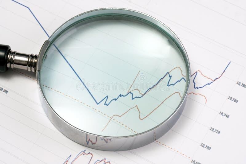 analysering av marknadsmaterielet arkivbild