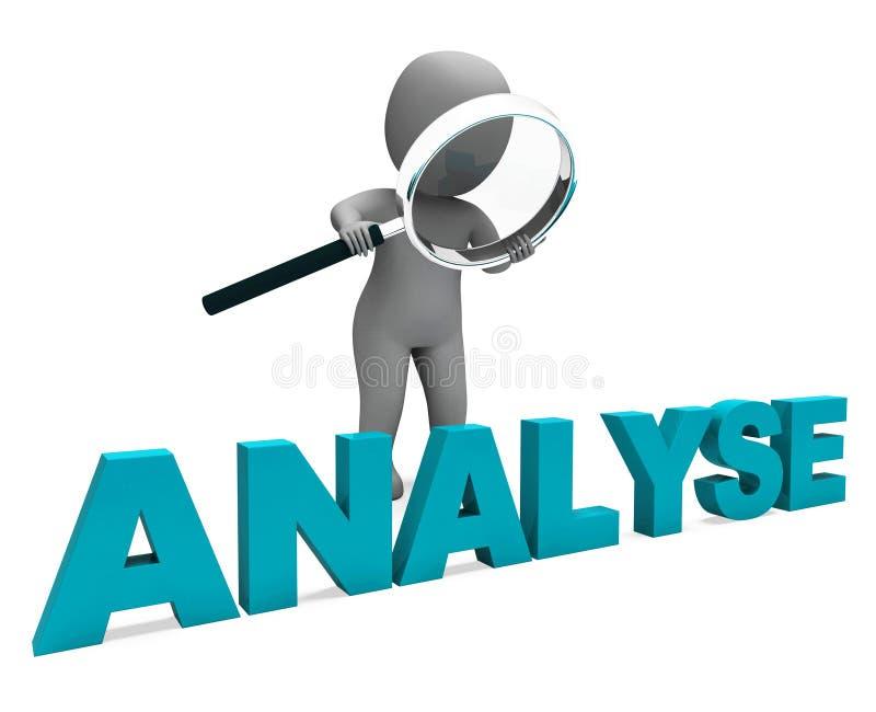 Analysez l'analyse ou l'analyse d'enquête d'expositions de caractère illustration libre de droits