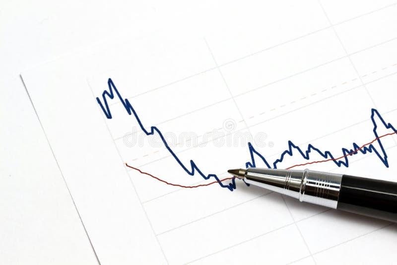Analysieren des Aktienmarktes lizenzfreie stockbilder