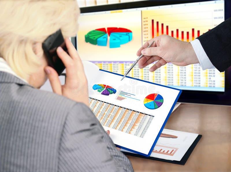 Analysing data . stock image