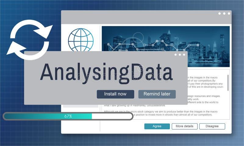 Analysing Data Information Analysis Assessment Concept stock illustration