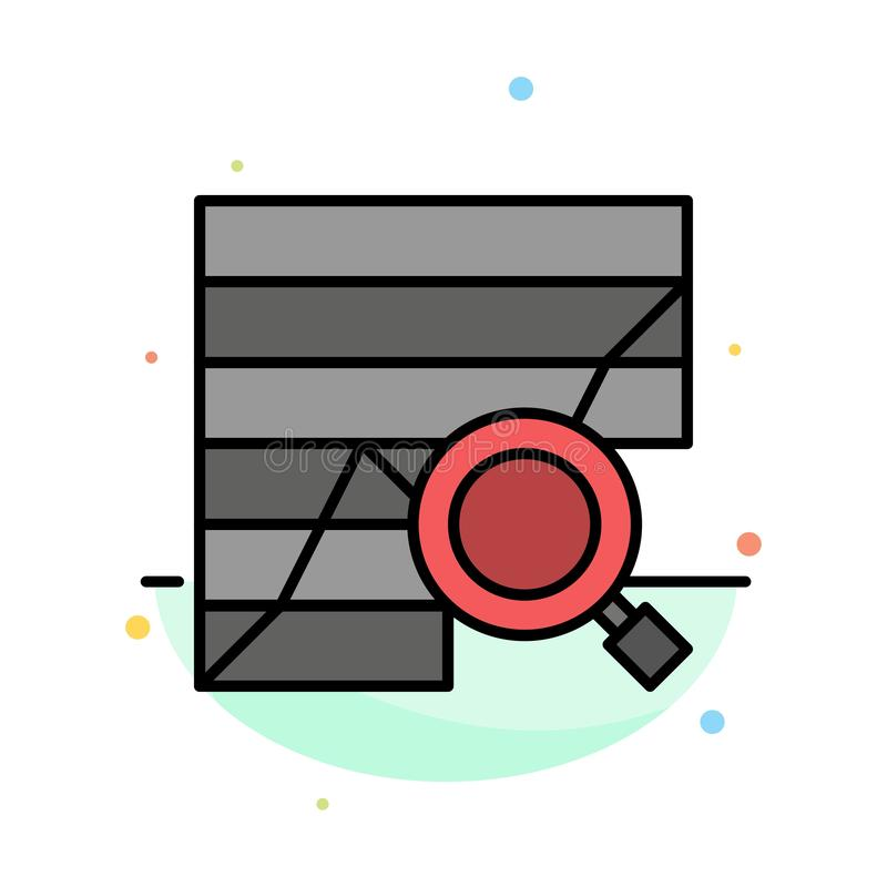 Analysis, Analytic, Analytics, Chart, Data, Graph Abstract Flat Color Icon Template stock illustration