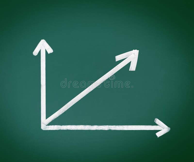 Download Analysis Arrows On Black Chalkboard Stock Photos - Image: 23404223