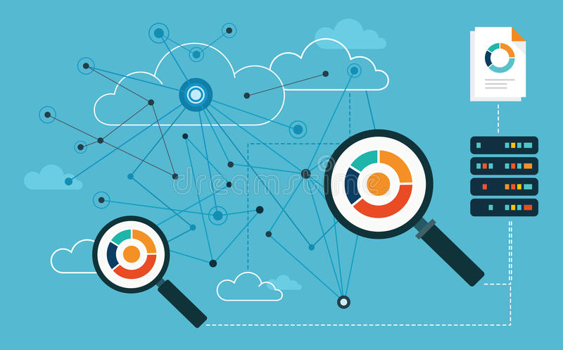Analysis Big Data. Analytics vector illustration
