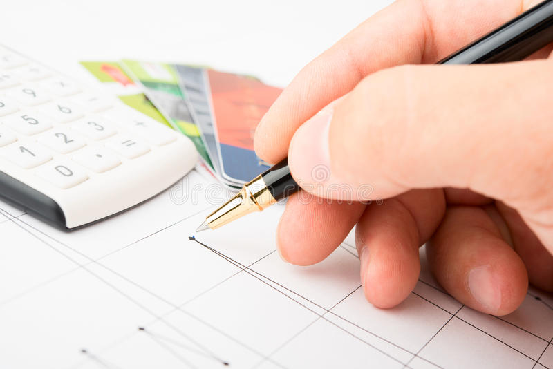 Download Analysis Of Business Graphs Stock Photo - Image: 25375678