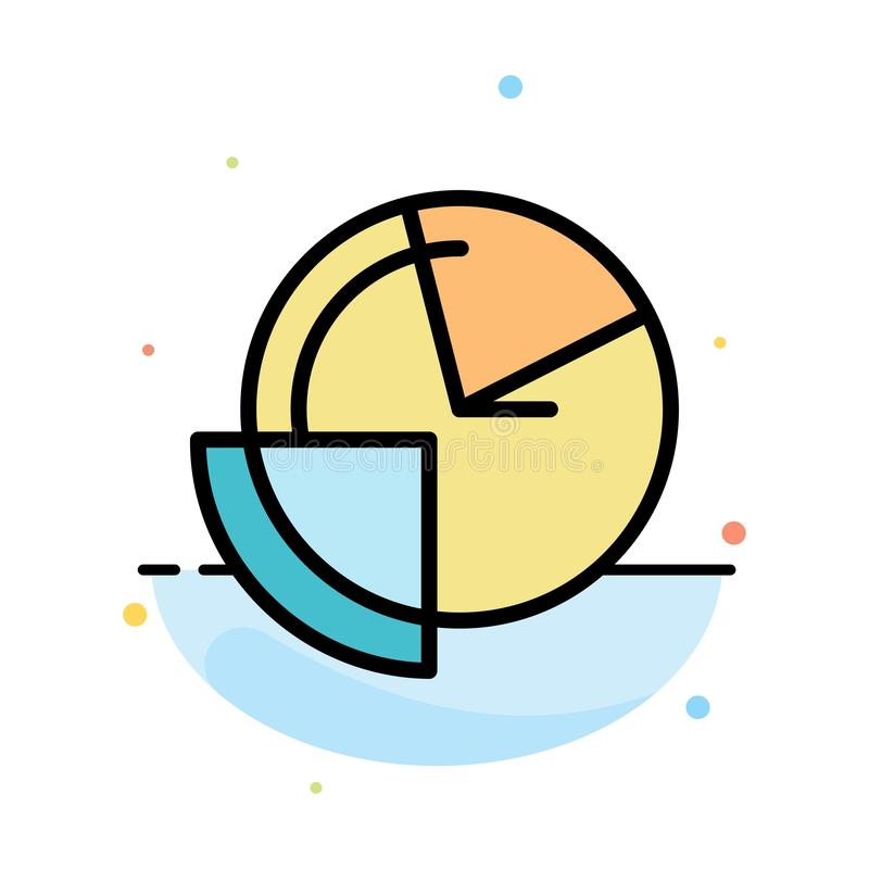 Analysis, Chart, Data, Diagram, Monitoring Abstract Flat Color Icon Template stock illustration