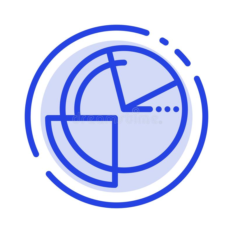 Analysis, Chart, Data, Diagram, Monitoring Blue Dotted Line Line Icon vector illustration