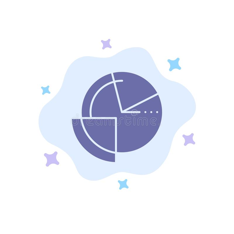 Analysis, Chart, Data, Diagram, Monitoring Blue Icon on Abstract Cloud Background royalty free illustration