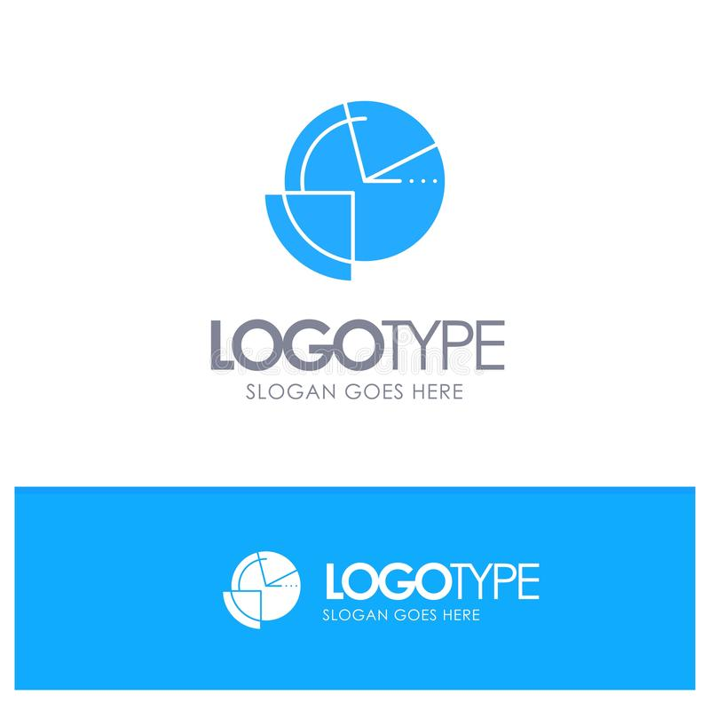 Analysis, Chart, Data, Diagram, Monitoring Blue Solid Logo with place for tagline vector illustration