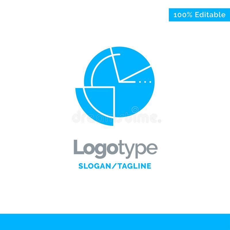 Analysis, Chart, Data, Diagram, Monitoring Blue Solid Logo Template. Place for Tagline stock illustration