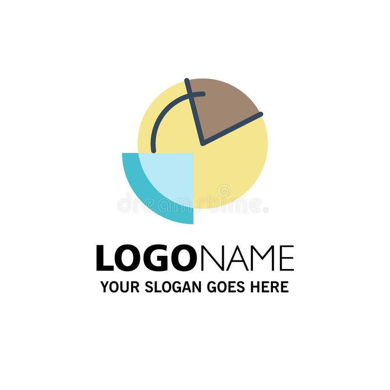Analysis, Chart, Data, Diagram, Monitoring Business Logo Template. Flat Color stock illustration