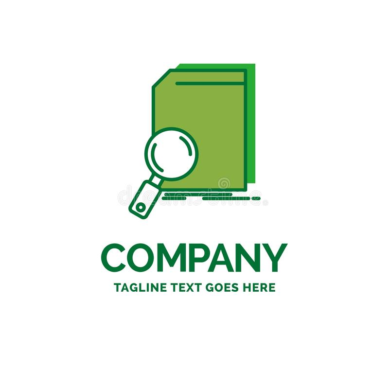 Analysis, data, financial, market, research Flat Business Logo t. Emplate. Creative Green Brand Name Design royalty free illustration