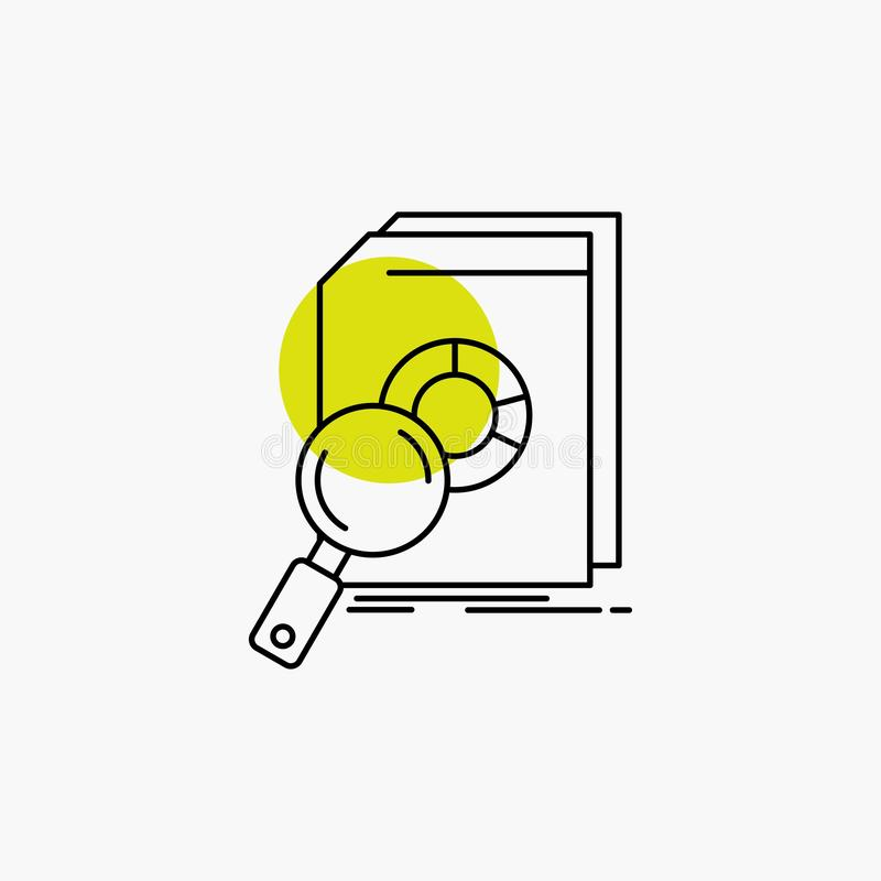 Analysis, data, financial, market, research Line Icon royalty free illustration