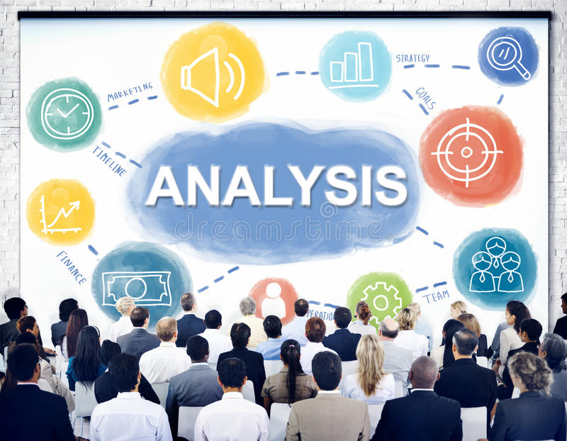 Analysis Data Process Target Business Concept stock photo