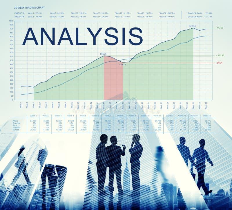 Analysis Graphs Business Marketing Goals concept stock image