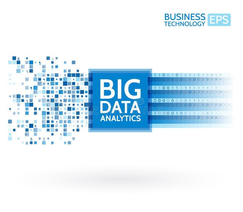 Analysis of Information. Data mining visualization. Abstract digital sorting information. Binary code algorithms. vector illustration