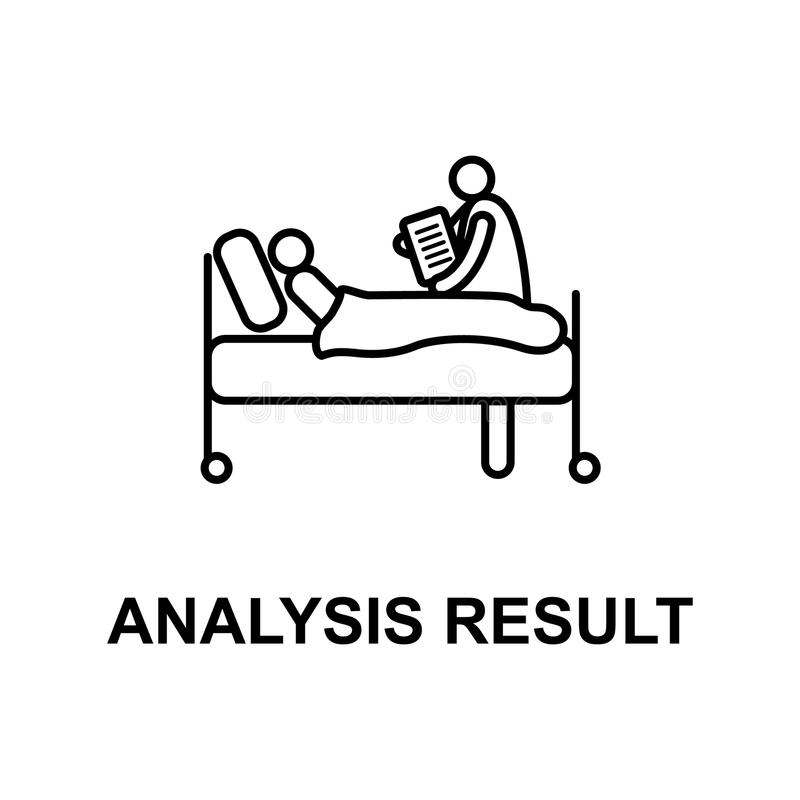 analysis results icon. Element of treatment with name for mobile concept and web apps. Thin line analysis results icon can be used stock illustration