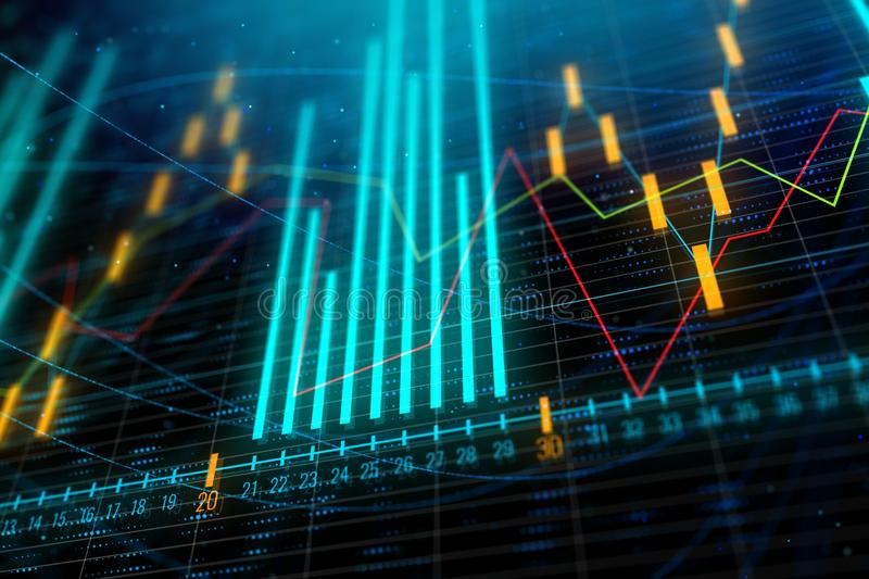 Download Abstract Forex Chart Wallpaper Stock Illustration