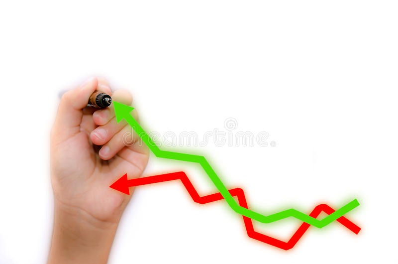 Analysis. Of stock market graphs stock photography
