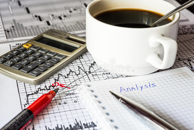 Analysis of the stock market stock images