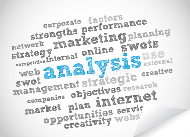 Analysis tag cloud. Vector background royalty free illustration