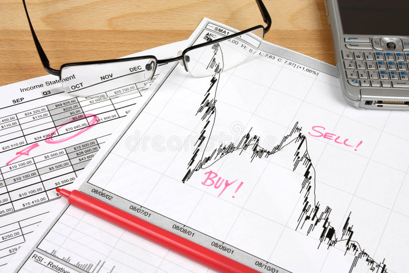 analysmarknadsmateriel arkivbild
