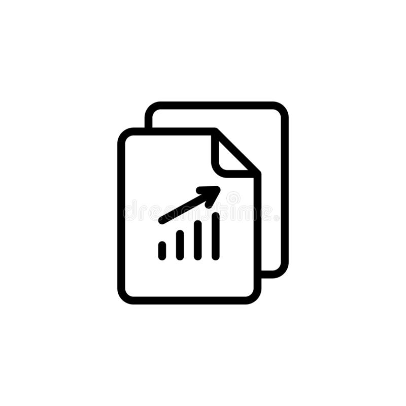 analystics, business, file icon. Simple thin line, outline vector of Project Management icons for UI and UX, website or mobile stock illustration