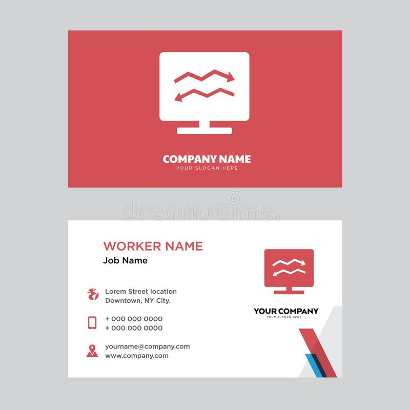 Analytic On Computer Business Card Design Editorial Stock Photo ...