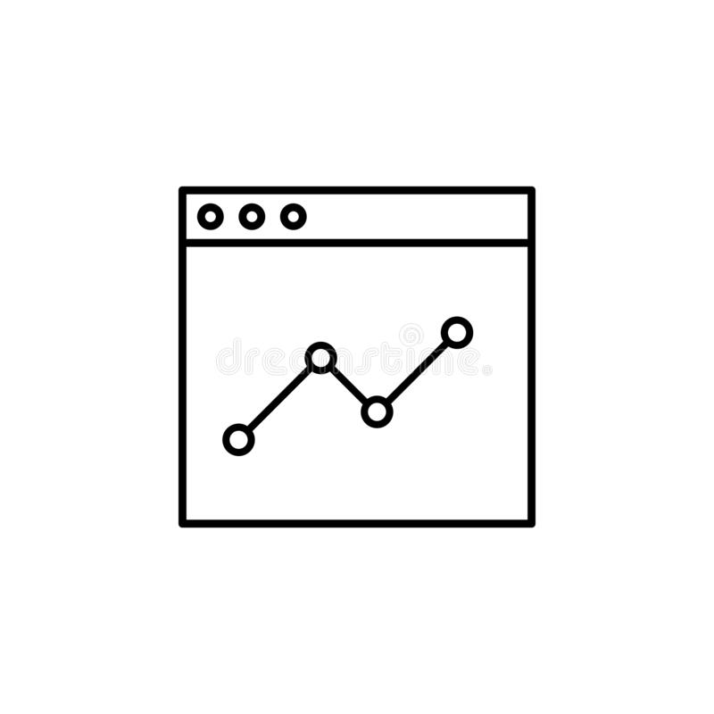 analytic, design icon. Simple outline vector of Web Design Development  set icons for UI and UX, website or mobile application royalty free illustration
