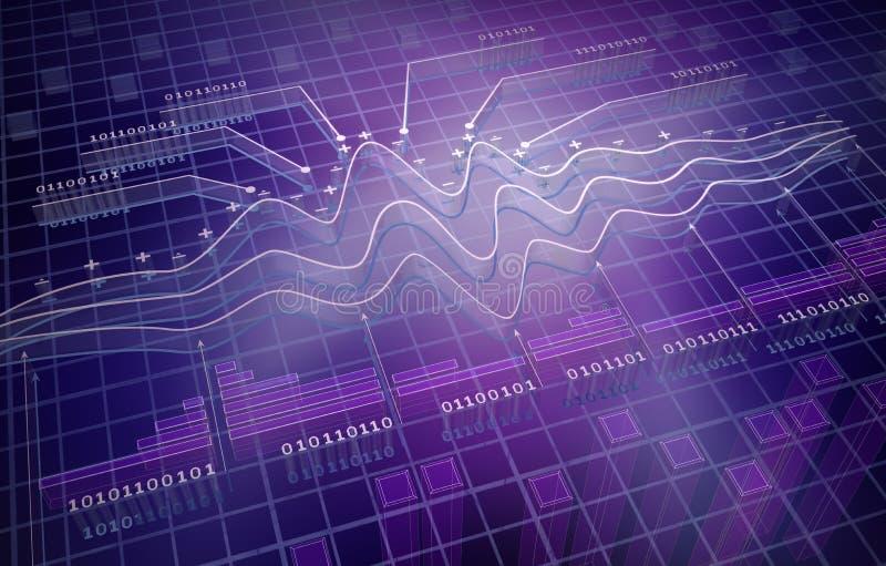 IT analytics , 3D background stock illustration