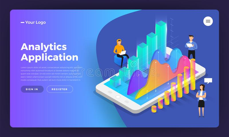 Analytics application royalty free illustration