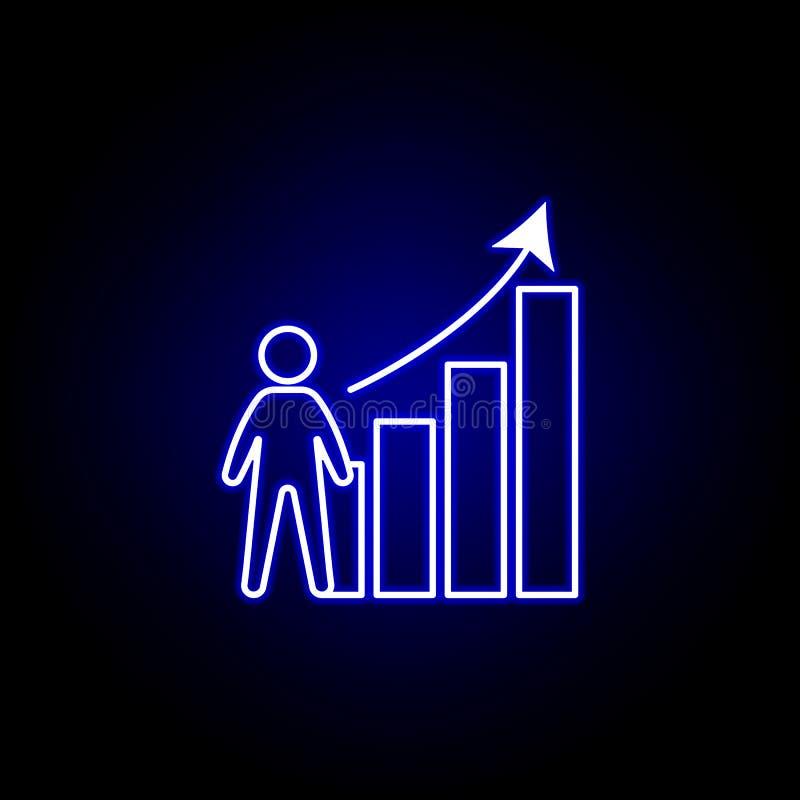 Analytics, Arbeitskraft, Wachstumsikone r Zeichen und Symbole k?nnen f?r Netz verwendet werden lizenzfreie abbildung