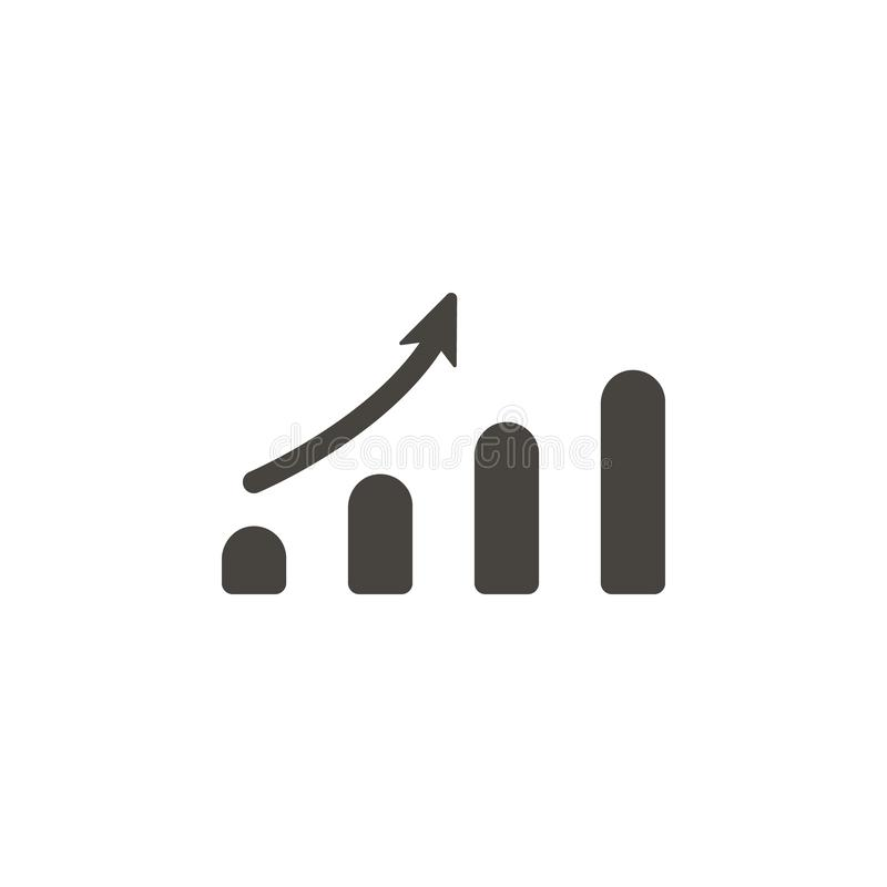 Analytics, bar chart vector icon. Simple element illustrationAnalytics, bar chart vector icon. Material concept vector. Illustration. on white background stock illustration