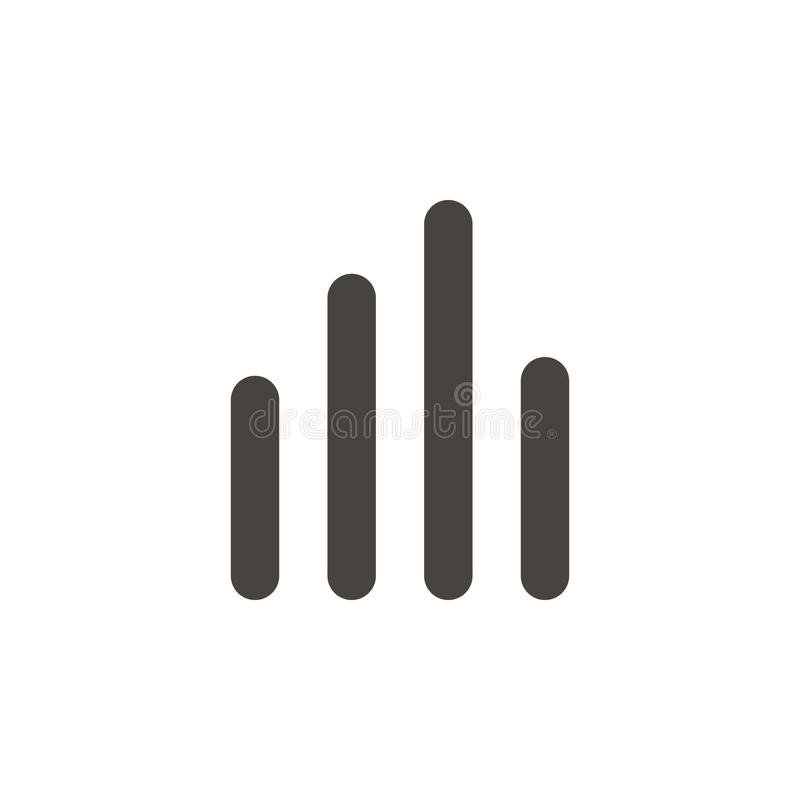 Analytics, bar chart vector icon. Simple element illustrationAnalytics, bar chart vector icon. Material concept vector. Illustration. on white background vector illustration