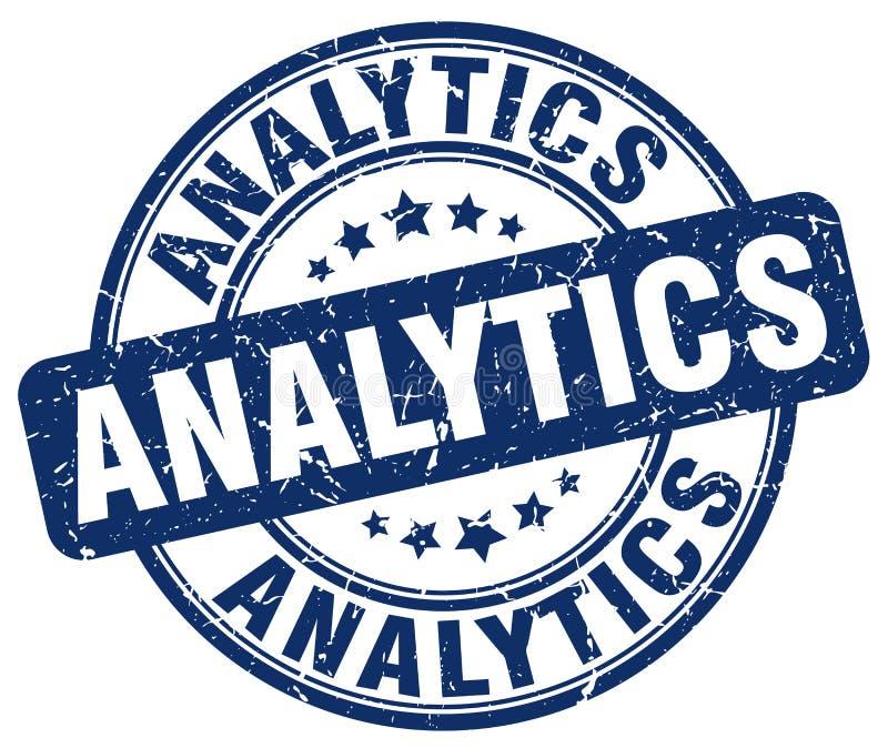 analytics blauwe zegel stock illustratie